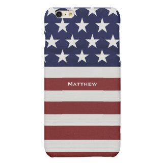 American USA Flag Patriotic July 4th Custom iPhone 6 Plus Case