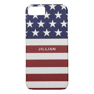 American USA Flag Patriotic July 4th Custom iPhone 7 Case
