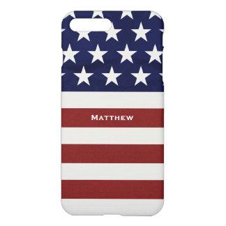 American USA Flag Patriotic July 4th Custom iPhone 7 Plus Case