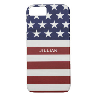 American USA Flag Patriotic July 4th Custom iPhone 8/7 Case