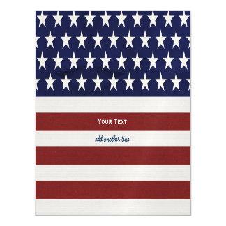 American USA Flag Patriotic July 4th Custom Magnetic Invitations