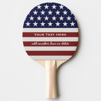 American USA Flag Patriotic July 4th Custom Ping Pong Paddle