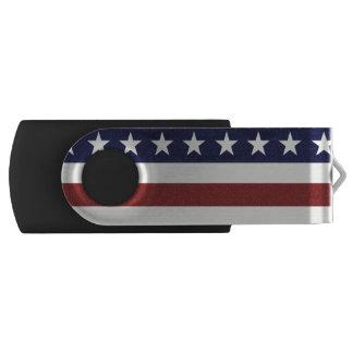 American USA Flag Patriotic July 4th Custom USB Flash Drive