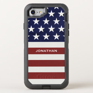 American USA Flag Patriotic July 4th Premium OtterBox Defender iPhone 7 Case