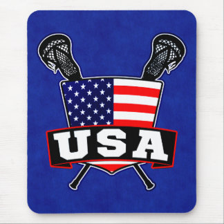 American USA Lacrosse Mousemat