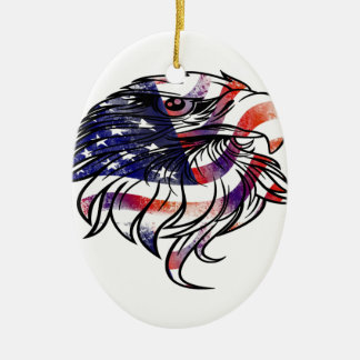 American USA National Flag Eagle Independence Day Ceramic Oval Decoration