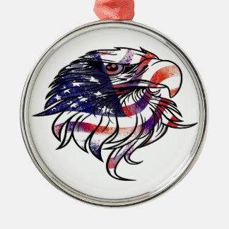 American USA National Flag Eagle Independence Day Christmas Ornament