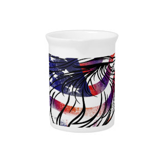 American USA National Flag Eagle Independence Day Pitcher