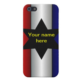 American USA patriotic customize your own name iPhone 5/5S Case