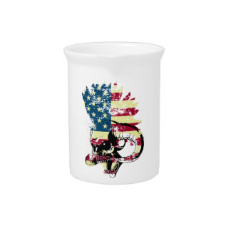 American USA Skull Pitcher
