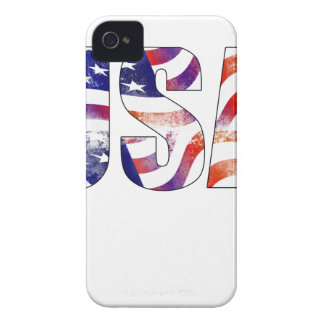 American USA Text National Flag Independence Day 4 iPhone 4 Cover