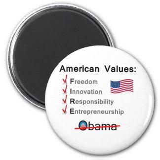 American Values Fire Obama Refrigerator Magnet