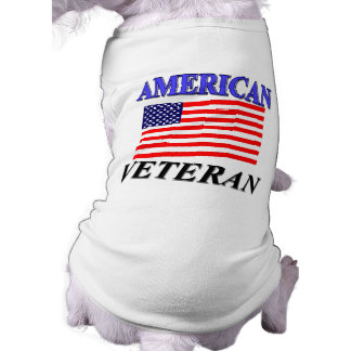 American Veteran Gifts and Merchandise Sleeveless Dog Shirt