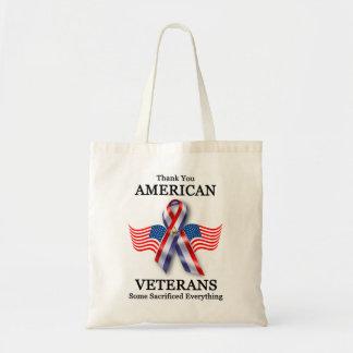 American Veterans 3 Budget Tote Bag