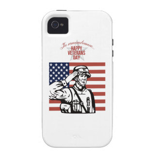 American Veterans Day Greeting Card iPhone 4/4S Case