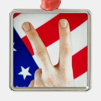 American victory Silver-Colored square decoration