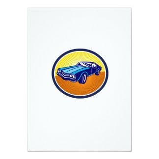 American Vintage Muscle Car Rear Retro 11 Cm X 16 Cm Invitation Card