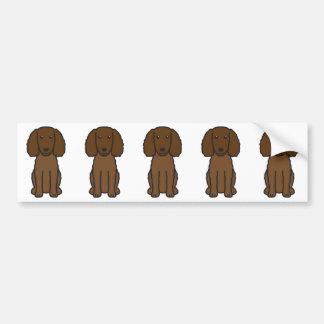 American Water Spaniel Dog Cartoon Bumper Sticker