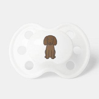 American Water Spaniel Dog Cartoon Pacifiers