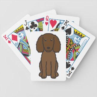 American Water Spaniel Dog Cartoon Poker Deck