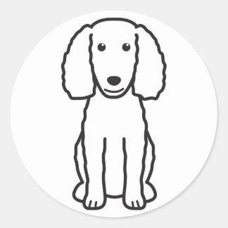 American Water Spaniel Dog Cartoon Round Sticker