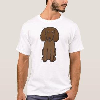American Water Spaniel Dog Cartoon T-Shirt