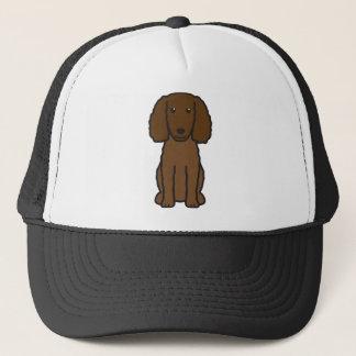 American Water Spaniel Dog Cartoon Trucker Hat