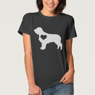 American Water Spaniel Heart Dark T-Shirt