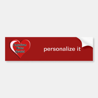 American Water Spaniel Heart for Dog Lovers Car Bumper Sticker
