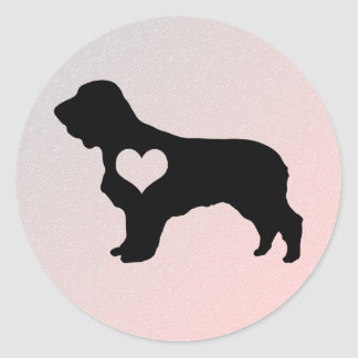 American Water Spaniel Heart Stickers