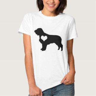 American Water Spaniel Heart T-Shirt