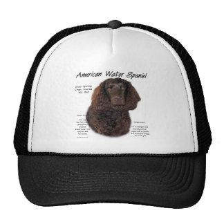 American Water Spaniel History Design Mesh Hats