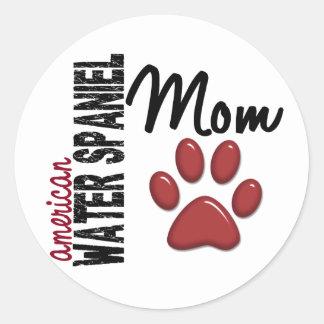 American Water Spaniel Mom 2 Round Sticker