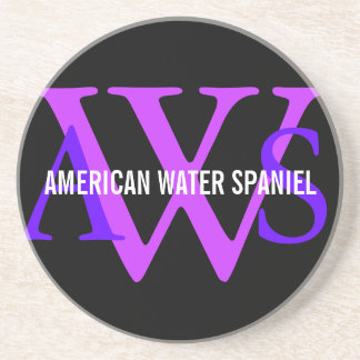 American Water Spaniel Monogram Coasters