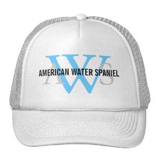 American Water Spaniel Monogram Mesh Hats