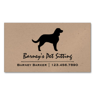 American Water Spaniel Silhouette Magnetic Business Cards