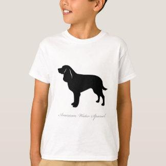 American Water Spaniel silhouette Tee Shirt