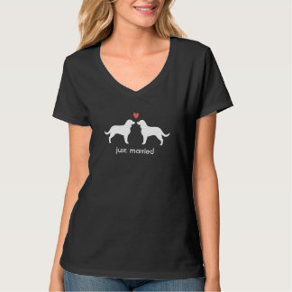 American Water Spaniel Silhouettes with Heart T-Shirt