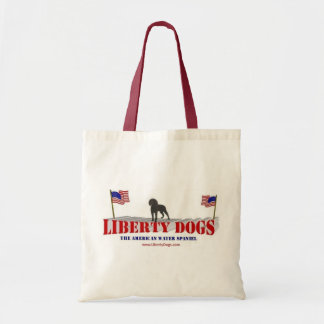 American Water Spaniel with Flags Canvas Bags