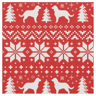 American Water Spaniels Christmas Pattern Fabric