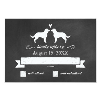 American Water Spaniels Wedding RSVP Response 9 Cm X 13 Cm Invitation Card