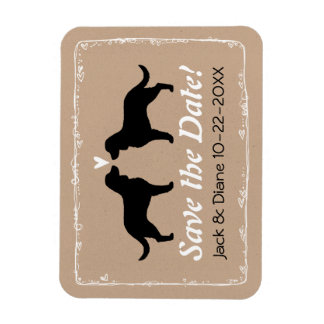 American Water Spaniels Wedding Save the Date Rectangular Photo Magnet