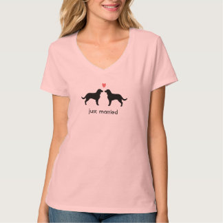 American Water Spaniels with Heart and Text T Shirts