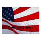 American Waving Flag Greeting Card 2