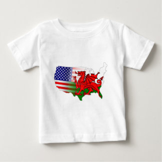 American Welsh Flags Map Baby T-Shirt