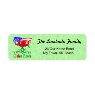 American Welsh Roots Address Labels
