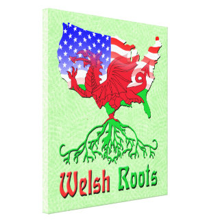 American Welsh Roots Canvas Print