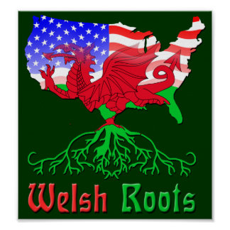 American Welsh Roots Poster