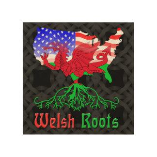 American Welsh Roots Wood Print