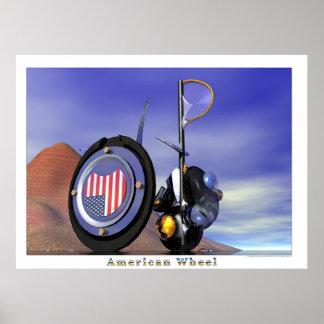 American Wheel Poster